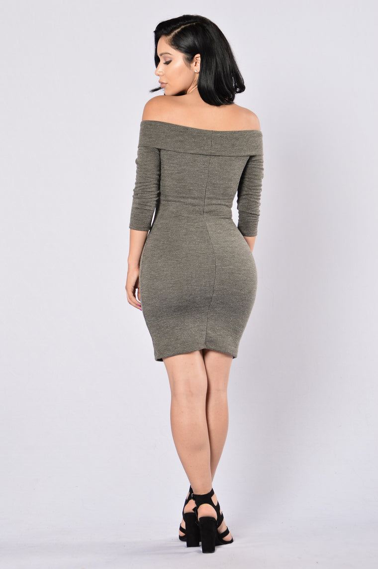 Midnight Stroll Dress - Olive