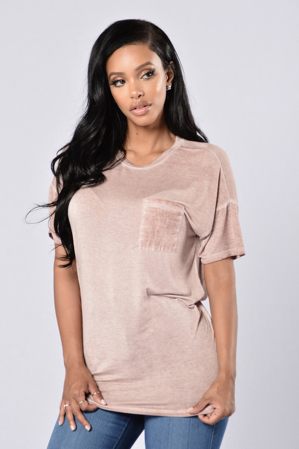 On The Road Tee - Mauve