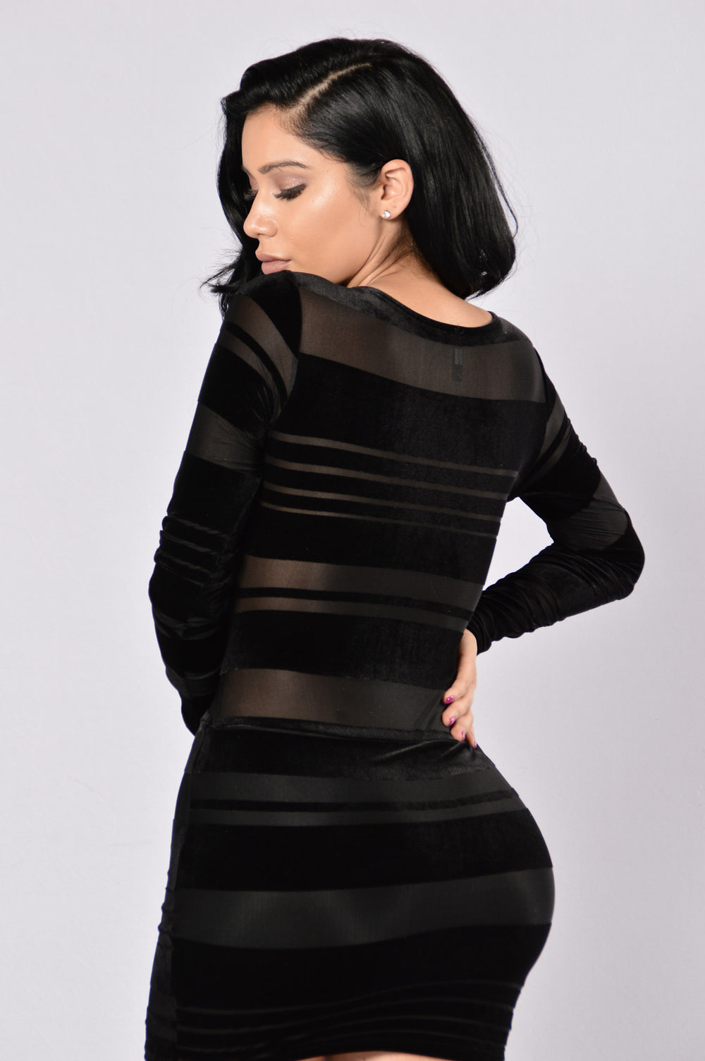 Burnout Dress - Black