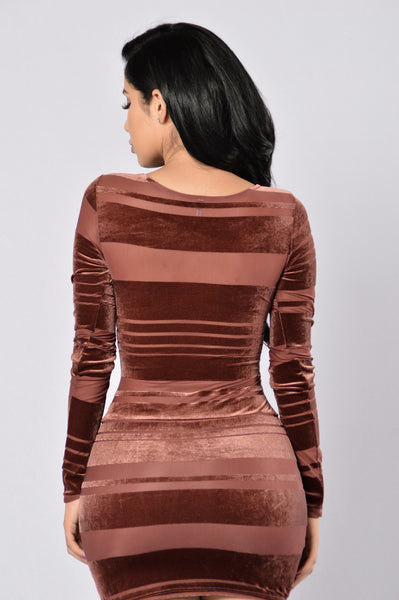 Burnout Dress- Mauve