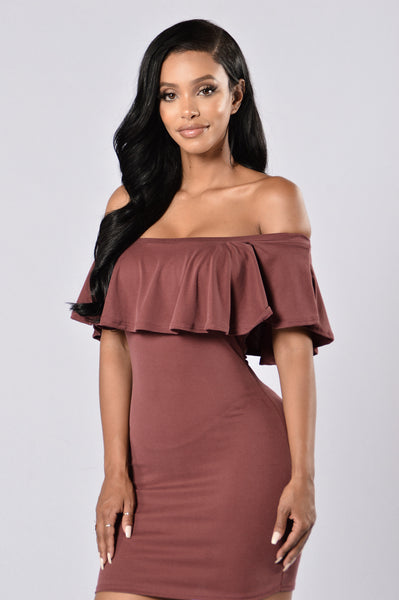 Sweet Heart Dress - Burgundy