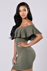 Sweet Heart Dress - Olive