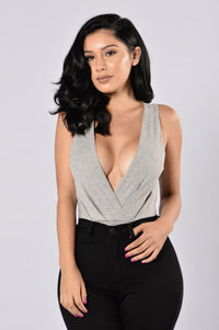 Wild Spirit Bodysuit - Heather Grey Angle 1