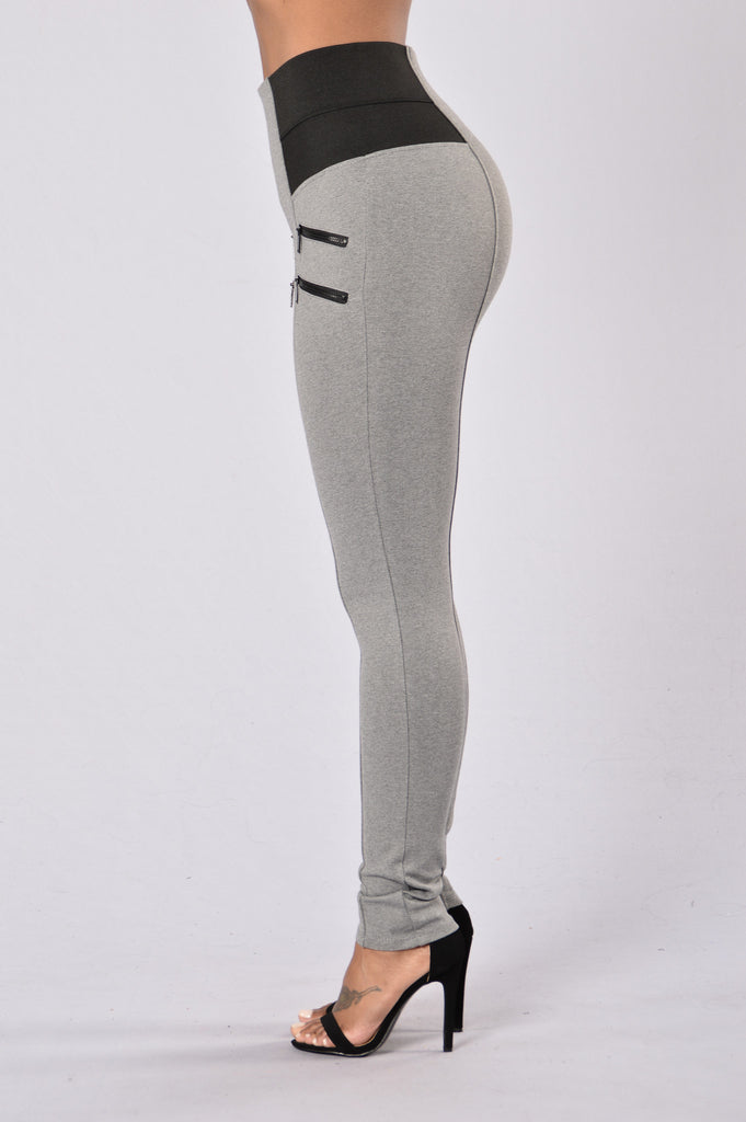 Lounge Around Ponte Pants - Grey