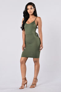 You Got it Bad Dress - Olive