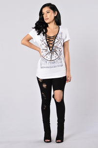 Sun And Moon Tee - White Angle 6