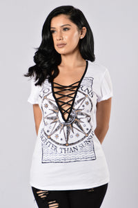 Sun And Moon Tee - White Angle 1