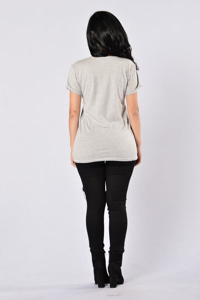Sun And Moon Tee - Heather Grey