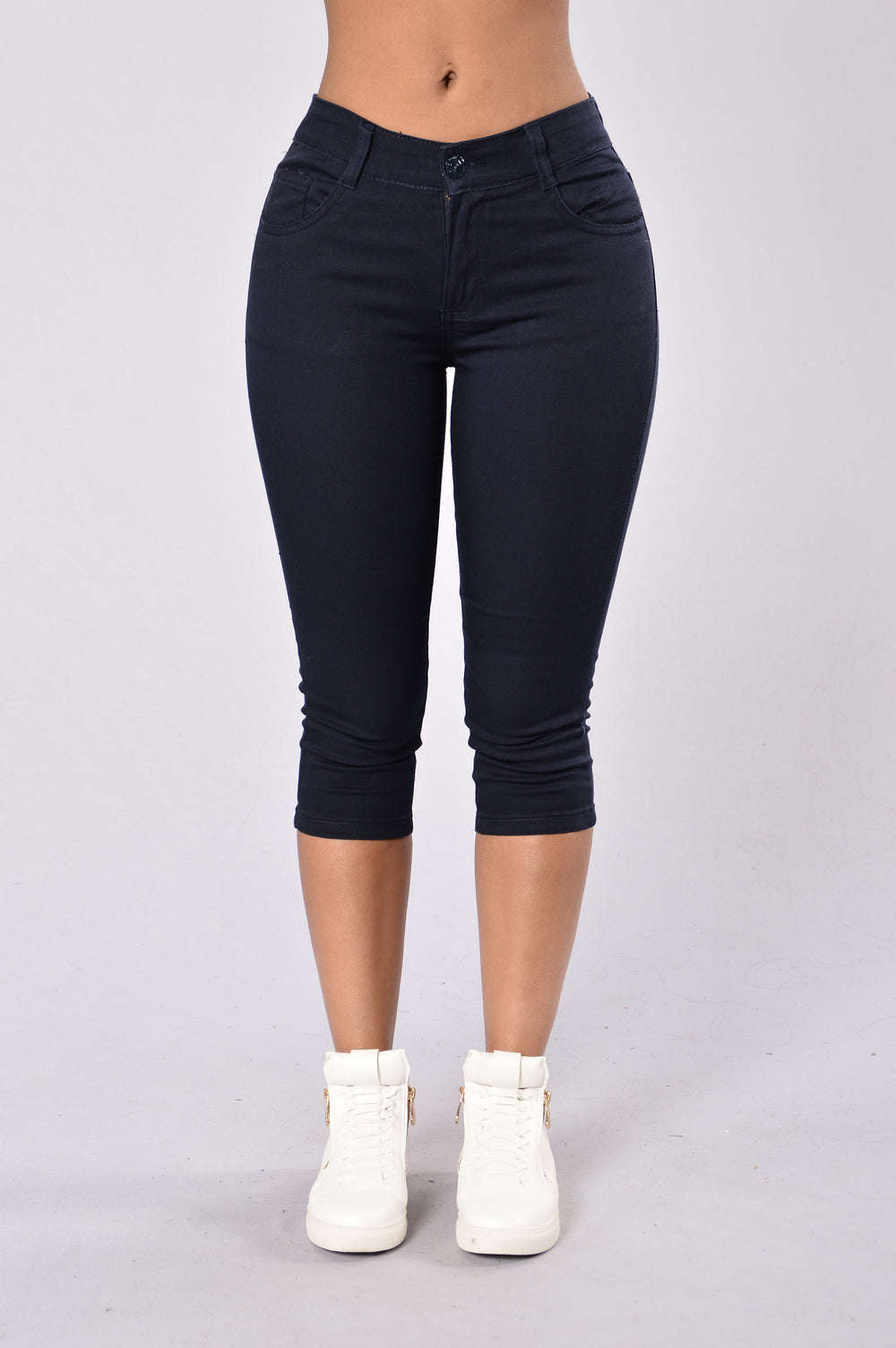 Capri Uniform Pants - Navy