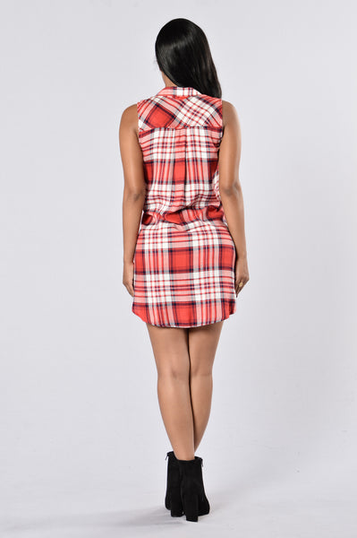 Country Gal Dress - Red