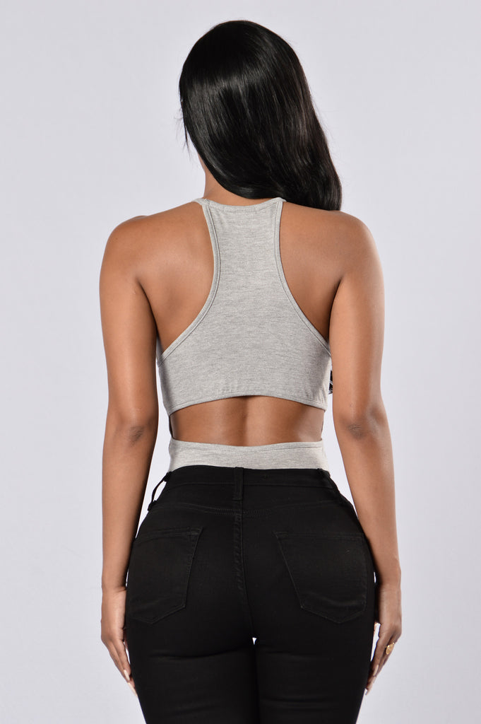 Slayin' It Bodysuit - Heather Grey
