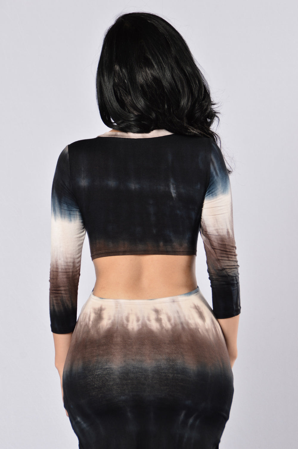 Dip Dye Dress - Brown Multi