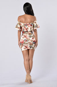 Flower Shower Dress - Ivory (STORES ONLY)