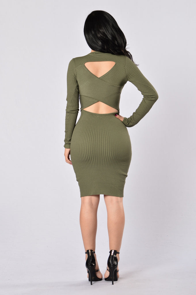 The Hottest Ex Dress - Olive