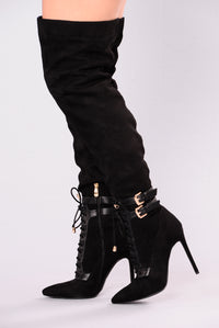 Sexy Over The Knee Boot - Black