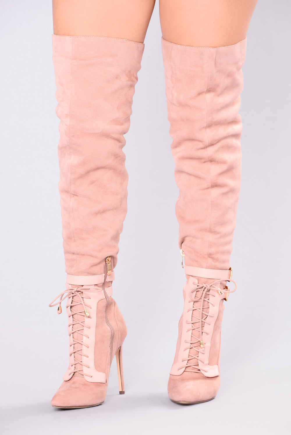 Sexy Over The Knee Boot - Blush