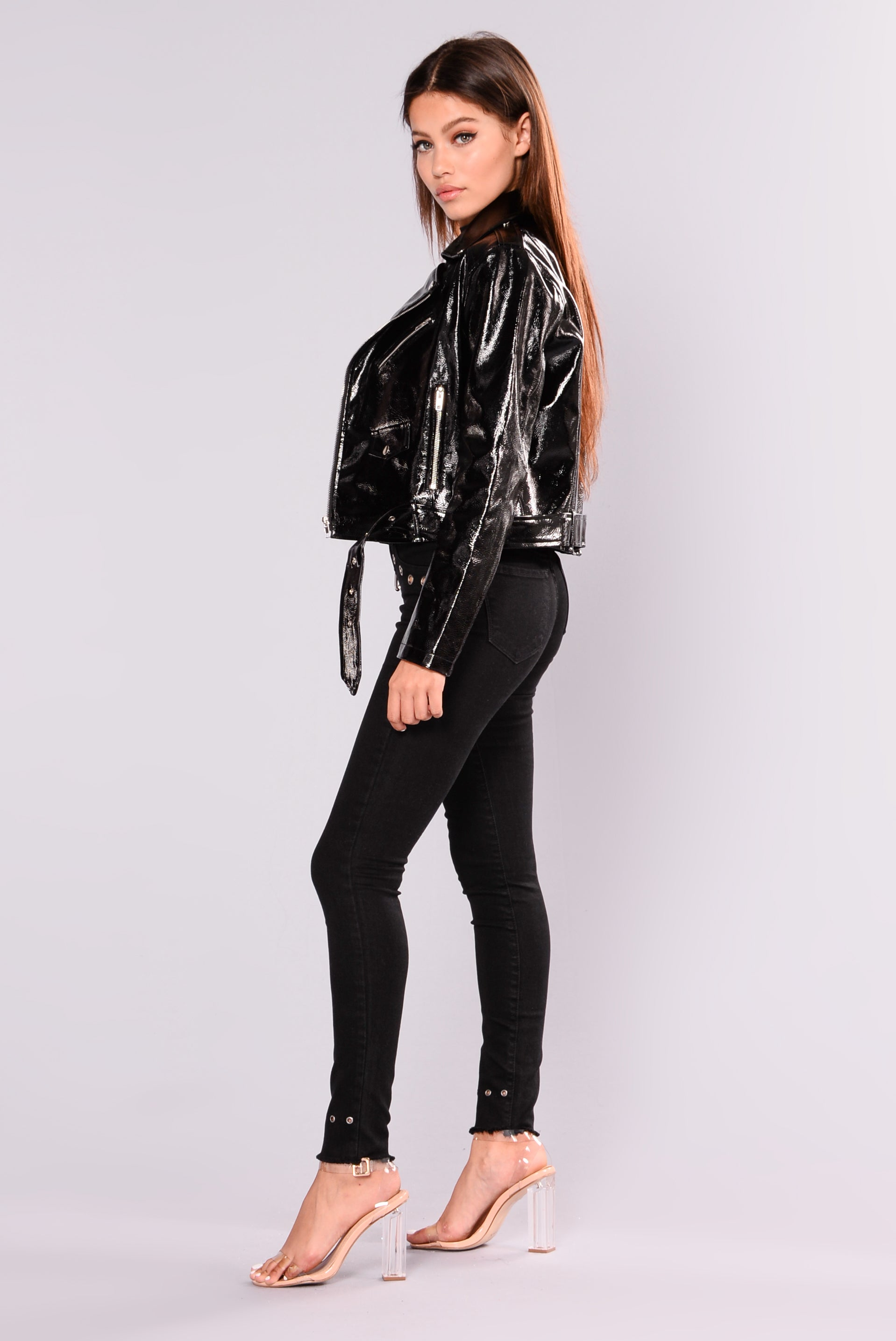 Patent leather jackets