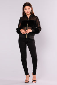Milly Mesh Jacket - Black Angle 2