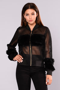 Milly Mesh Jacket - Black Angle 1