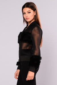 Milly Mesh Jacket - Black Angle 4