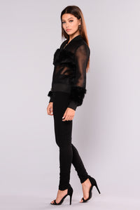 Milly Mesh Jacket - Black Angle 5