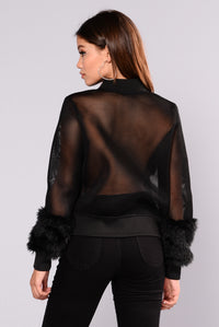 Milly Mesh Jacket - Black Angle 3