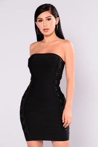 Breanne Bandage Dress - Black