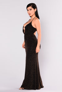 Your Lady Glitter Dress - Black