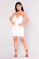 Margaret Crochet Dress - White