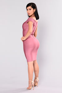 Pandora Bandage Dress - Marsala