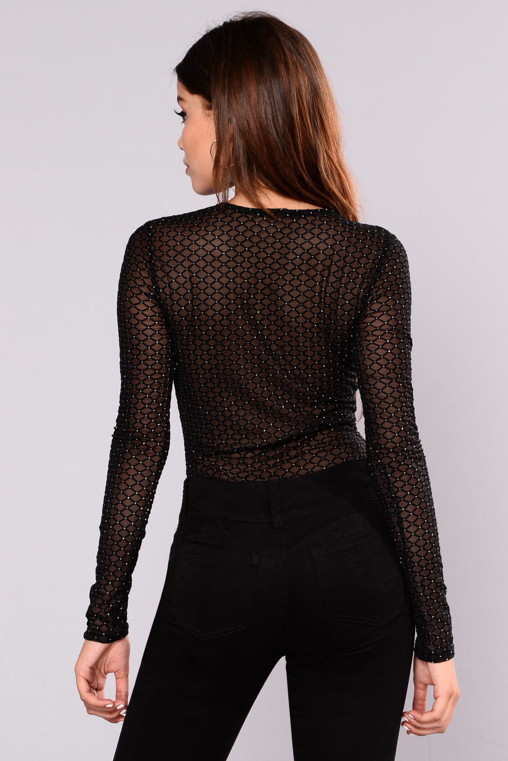 Shellie Mesh Top - Black