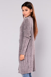 Tina Oversized Cardigan - Grey