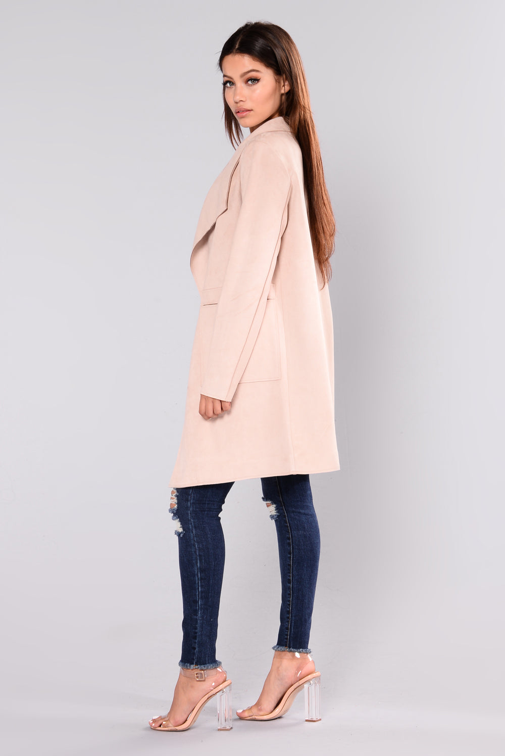Aliyah Suede Jacket - Blush
