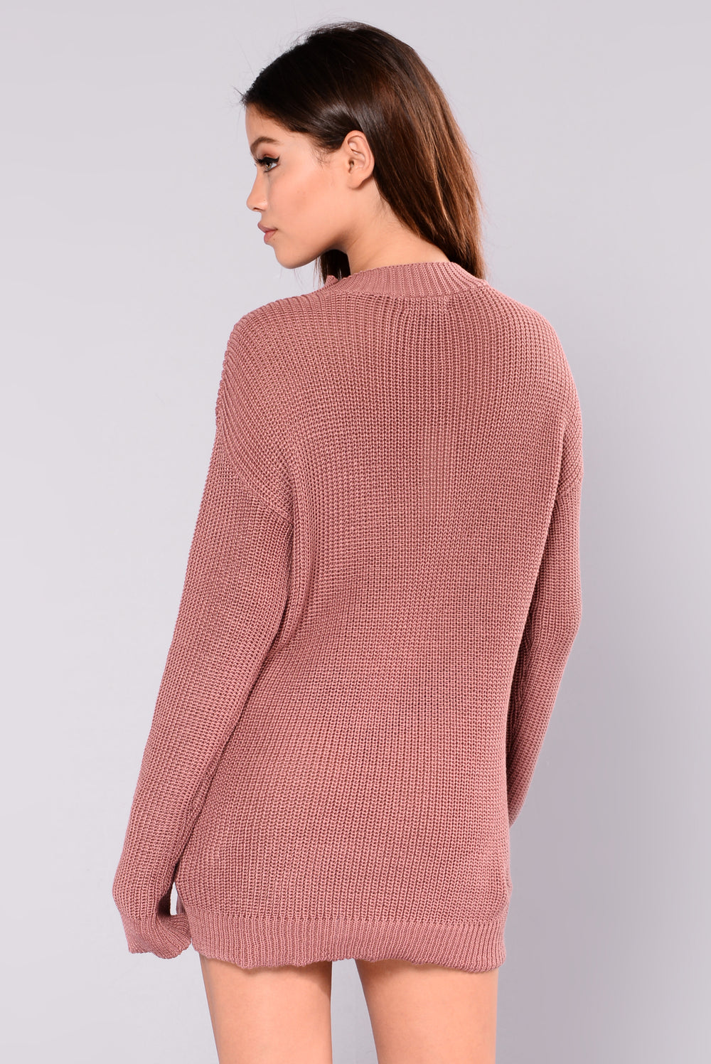 Queen Of Winter Sweater - Mauve