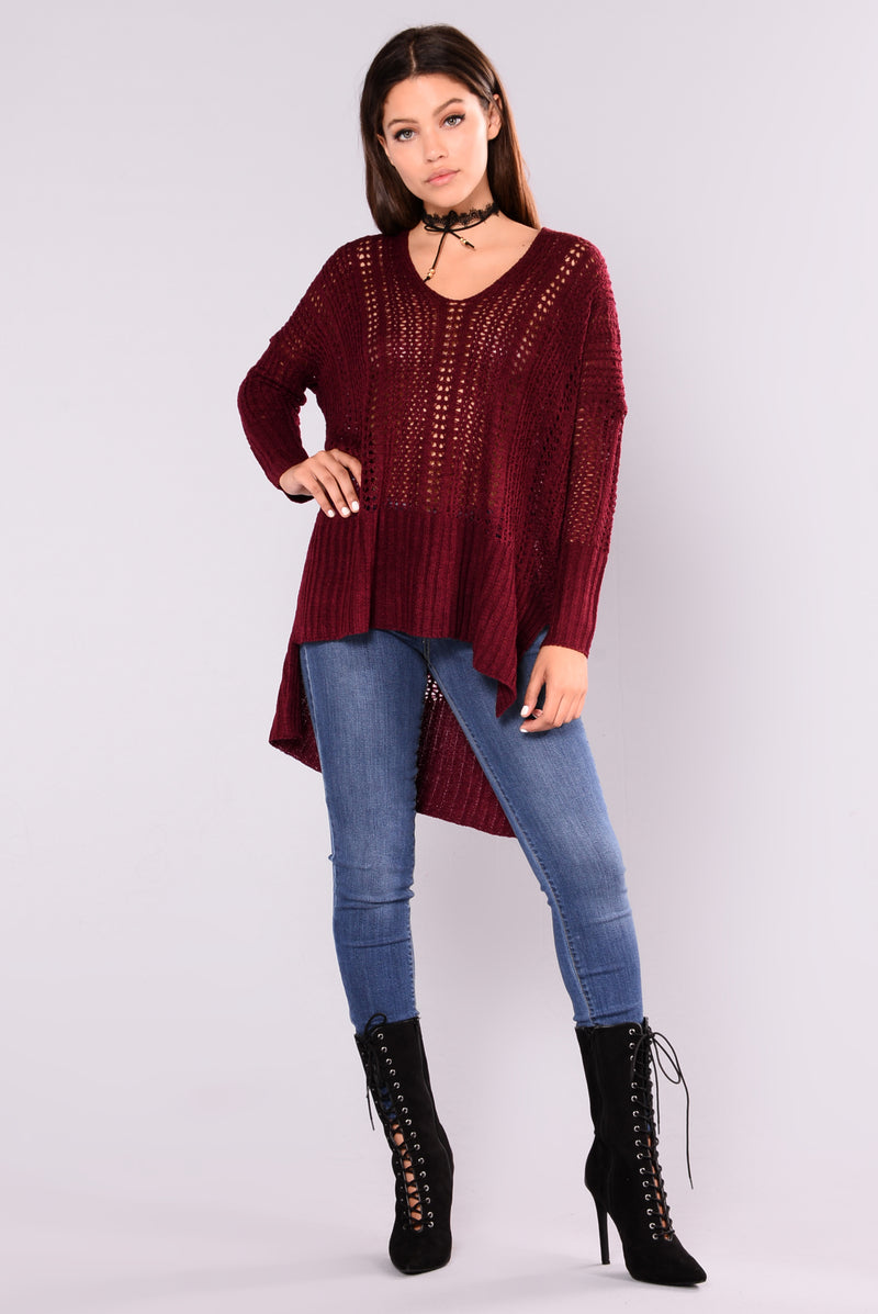 Paulina Oversized Sweater - Plum
