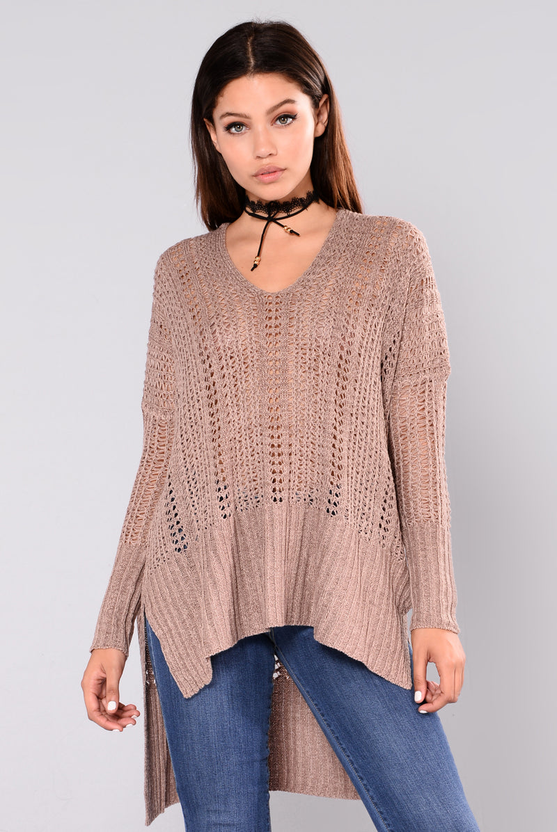 Paulina Oversized Sweater - Taupe