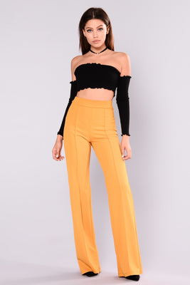 28b33bf00a4f Victoria High Waisted Dress Pants - Mustard