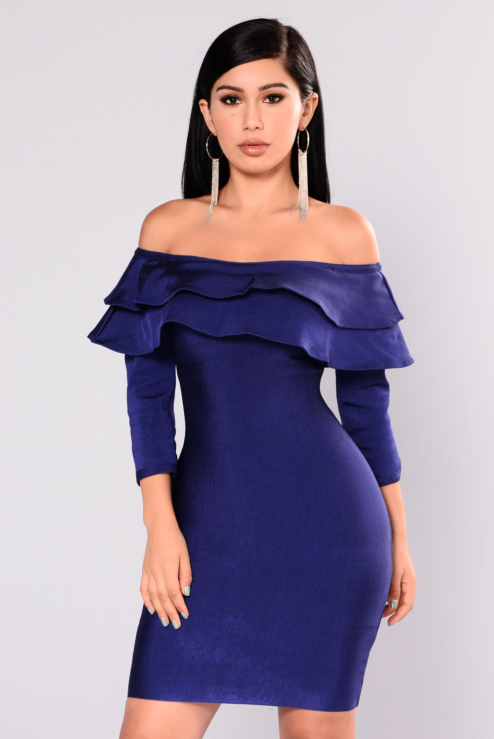 Anastasia Bandage Dress - Navy
