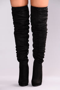 Lorene Over The Knee Boot - Black