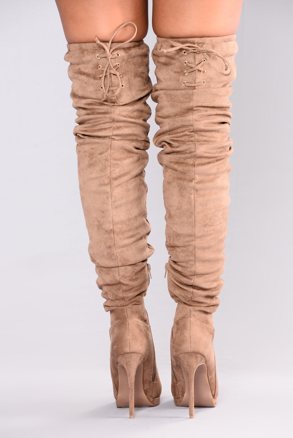 Lorene Over The Knee Boot - Taupe