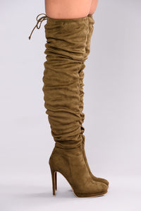 Lorene Over The Knee Boot - Olive
