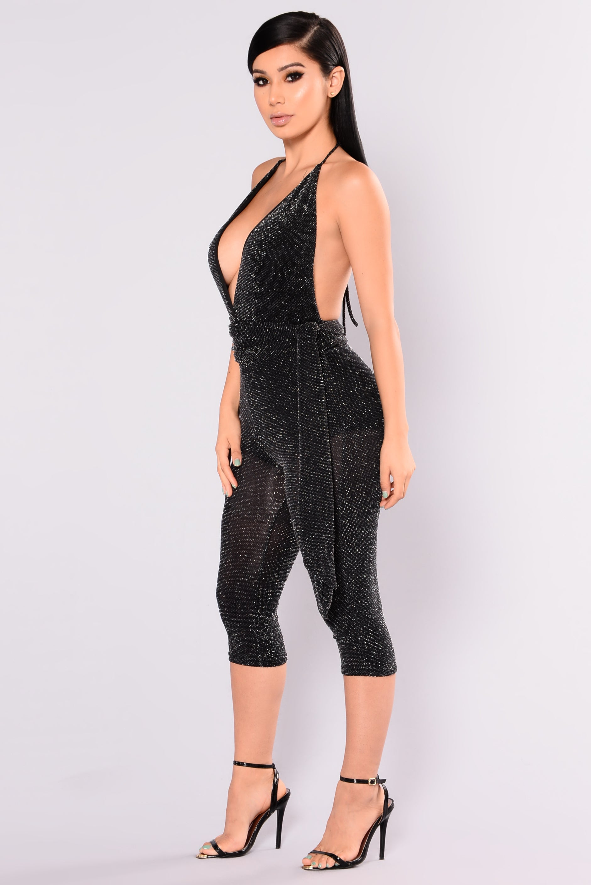 Night Out Metallic Jumpsuit