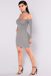 Liv Sweater Dress - Heather Grey