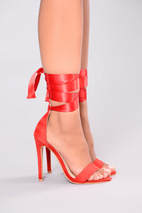 Madison Satin Heel - Red
