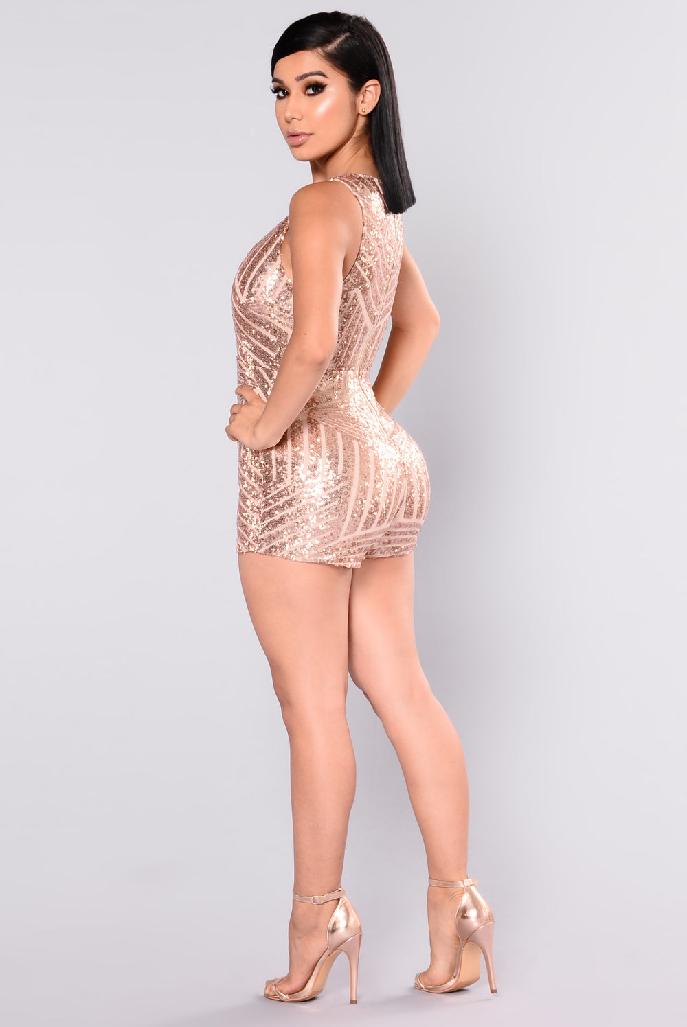 Fashion nova sequin romper