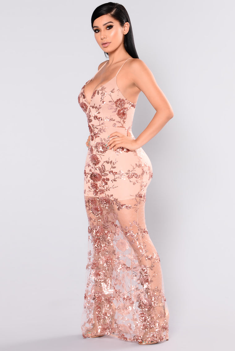 Honor Sequin Dress - Rose Gold