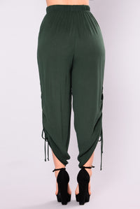Wendy Woven Pants - Hunter Green