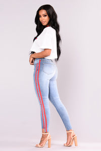 Athlete Jeans - Blue/Red
