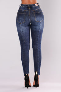 Masha Ankle Jeans - Dark Denim
