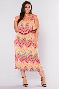 Hot & Spicy Maxi Dress - Red
